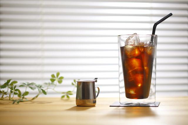 コーヒー 珈琲グラス ガラス アイス 大  rayes レイエス スクエア ダブルウォールグラス