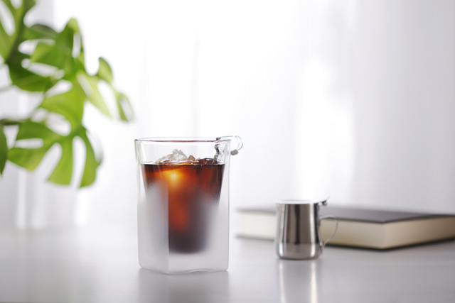 コーヒー 珈琲グラス ガラス フロスト 朝食 モーニング  rayes レイエス スクエア ダブルウォールグラス